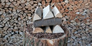 Spaltfrisches Brennholz