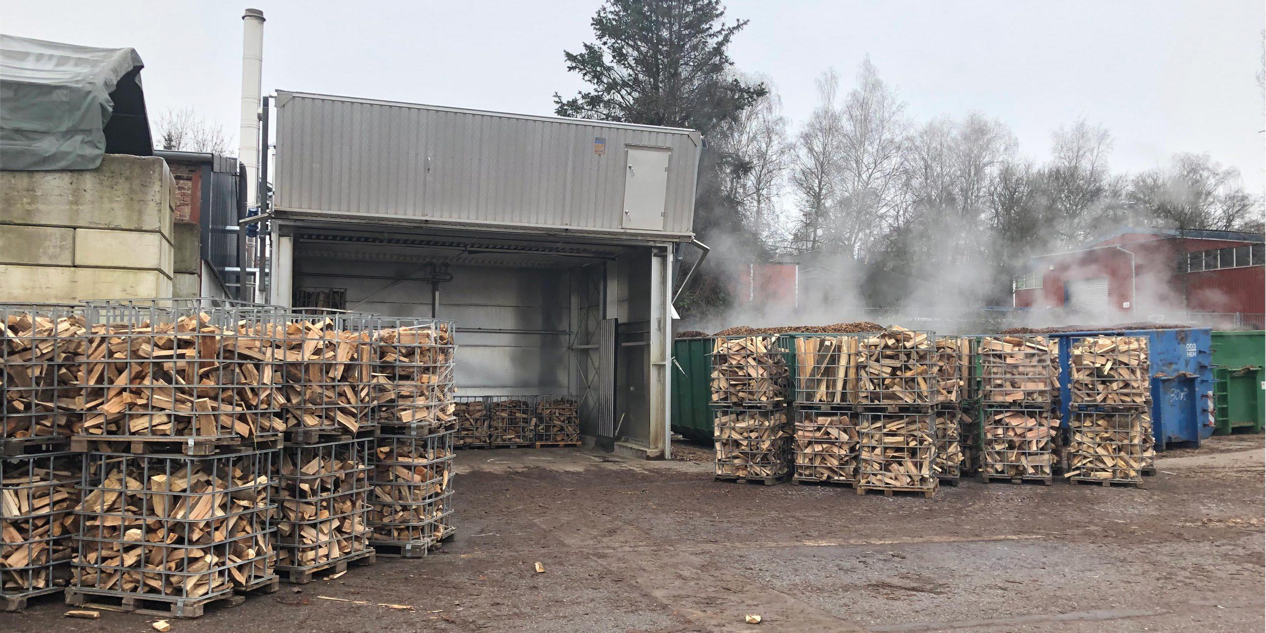 Brennholz trocknen